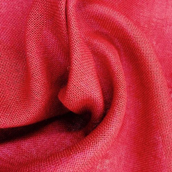 Arpillera yute de colores - Color Rojo
